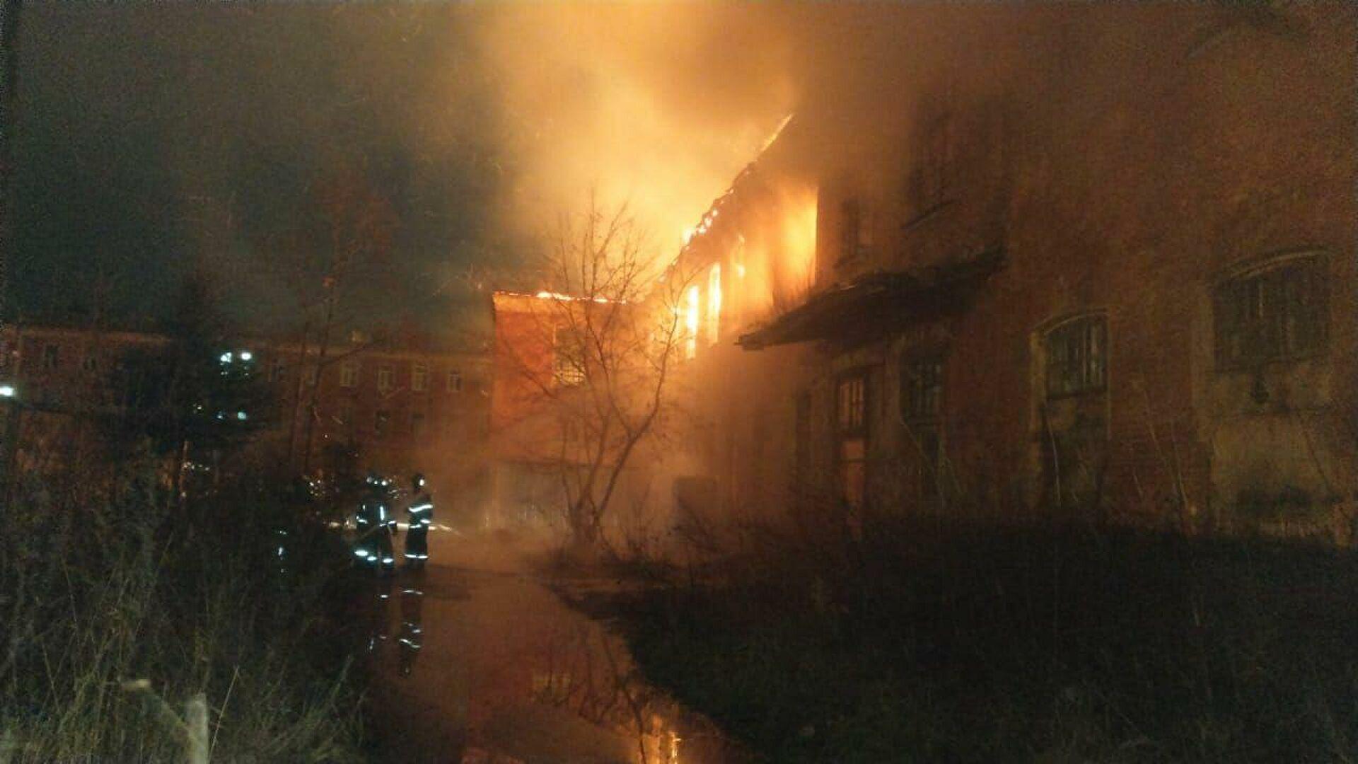 Видео последствий пожара вКрасноармейске
