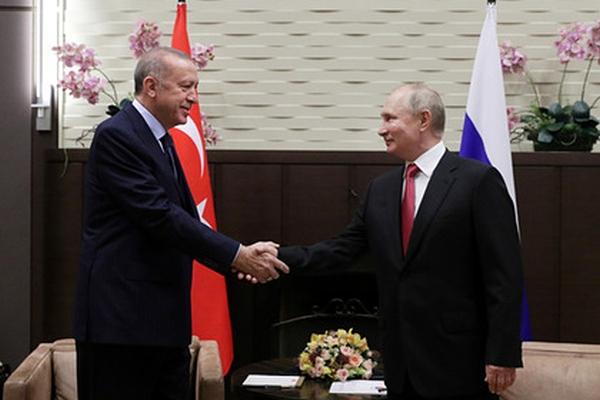 Завершились переговоры Путина иЭрдогана