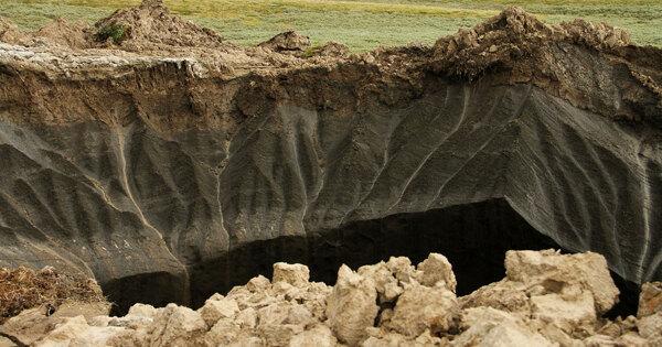 Глобальное потепление может вызвать сильные взрывы подземного газа вСибири
