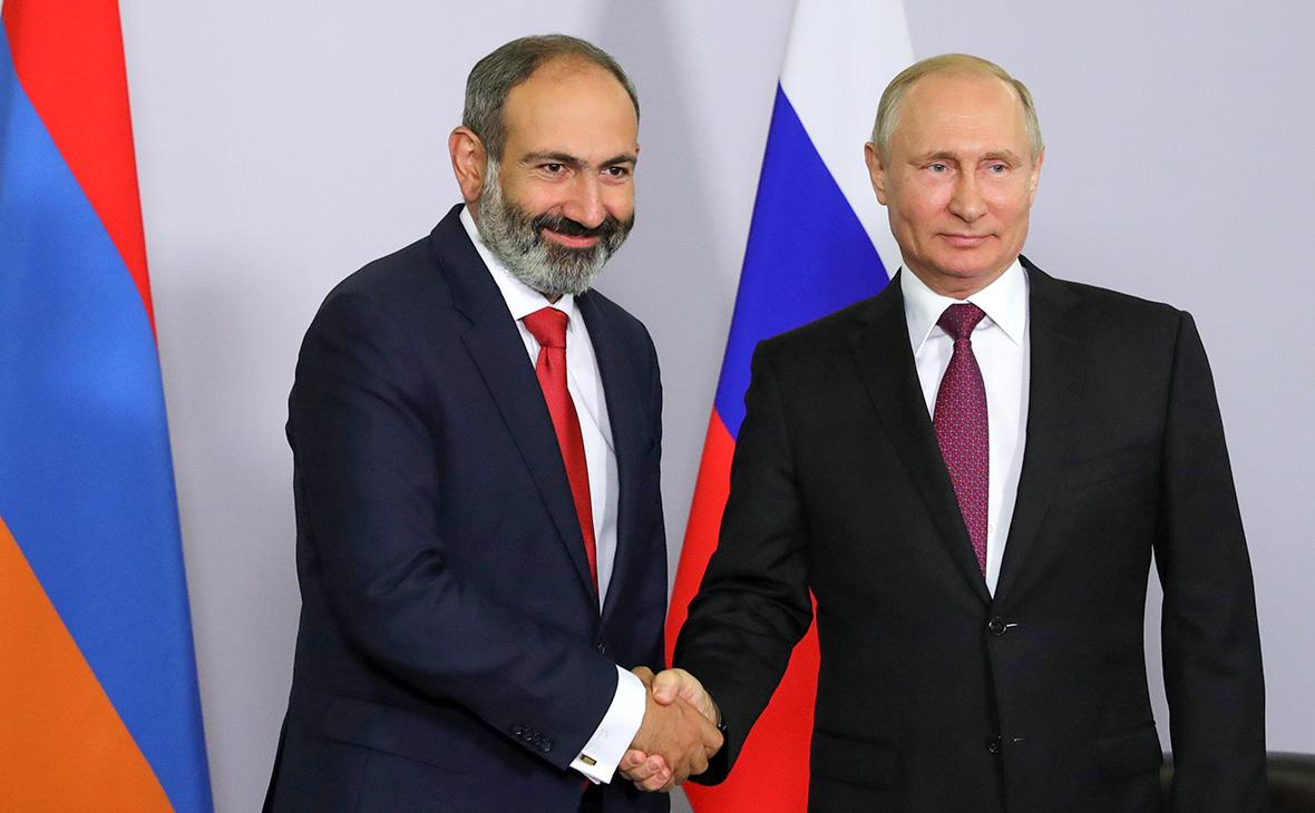 Путин иПашинян обсудили возвращение армянских военных изАзербайджана
