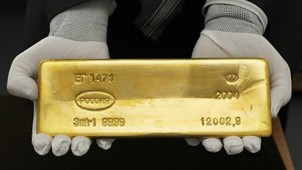 Россия впервом полугодии снизила производство золота