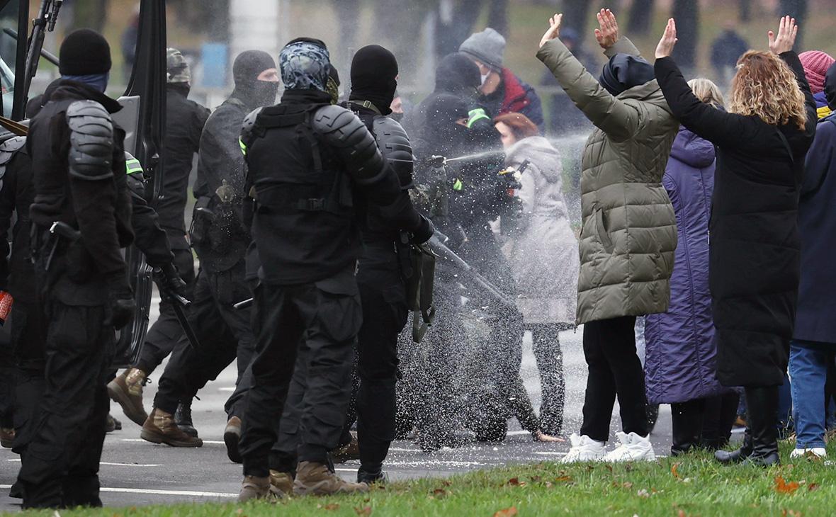 Задержания нанесанкционированных акциях вМинске попали навидео