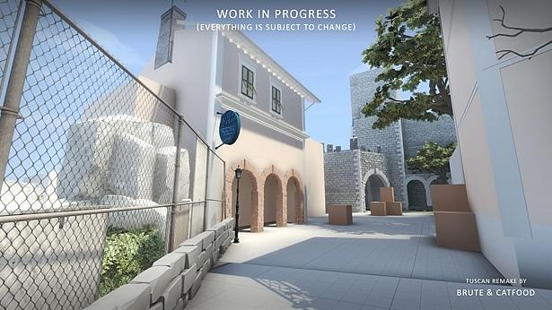 Дизайнер Tuscan для CS:GO показал новый скриншот карты