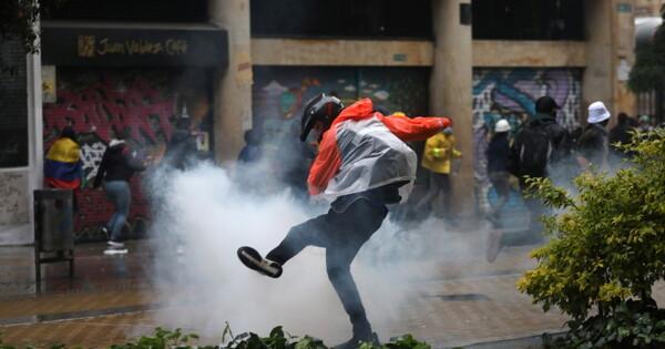 ВКолумбии входе беспорядков ранены более 840человек