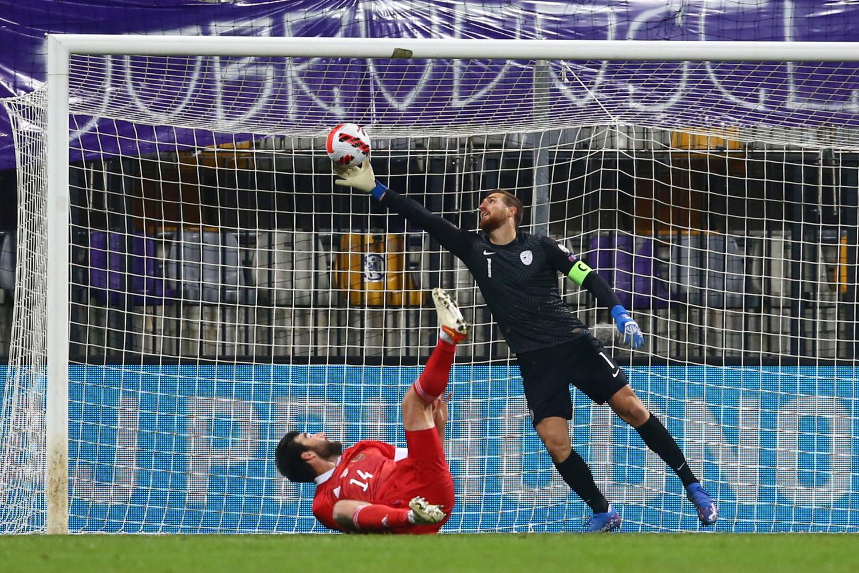 Во время матча отборочного этапа чемпионата мира по футболу 2022 года между сборными командами Словении и России, 11 октября 2021 года