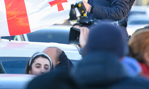 В Тбилиси началась новая акция протеста