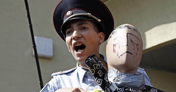 Акционист Крисевич устроил стрельбу наКрасной площади